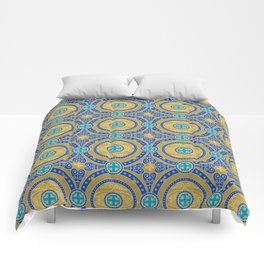 Seamless pattern of gold arabesques. Patterns. Comforters