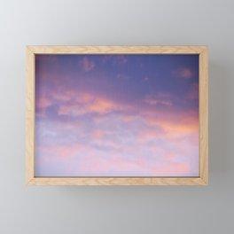Sunset clouds Framed Mini Art Print