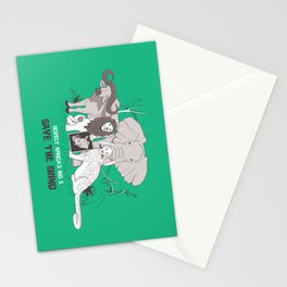 Save the Rhino Stationery Cards
