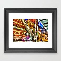 Philly Plane HDR Framed Art Print