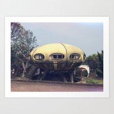 Futuro House Art Print