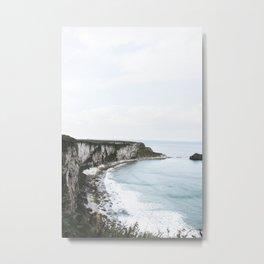 Cliffs + Sea (One) Metal Print
