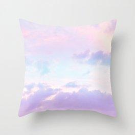 Unicorn Pastel Clouds #1 #decor #art #society6 Throw Pillow