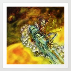 Every Missile Explodes Art Print