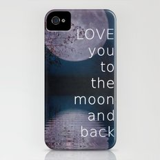 LOVE you to the moon and back Slim Case iPhone (4, 4s)