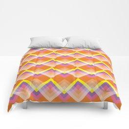 Yellow & Purple Chevron Comforters