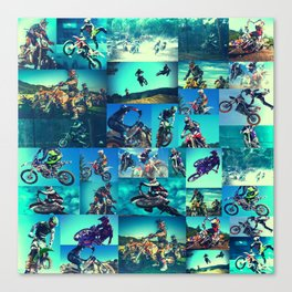 Tyler Durden Motocross Shirt Club Fight Cosplay Canvas Print