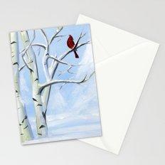 Snow Cardinal Stationery Cards