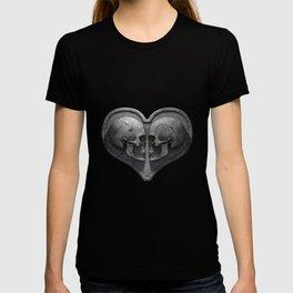 Gothic Skull Heart T-shirt