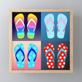 Flip Flop Pop Art Framed Mini Art Print