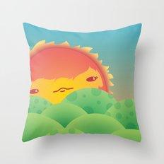 Sunlit Hills Throw Pillow