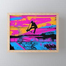 Lets Fly!  - Stunt Scooter Framed Mini Art Print