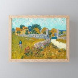 Farmhouse in Provence, 1888 by Vincent Van Gogh Framed Mini Art Print