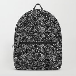 Roll the Dice in Gray Backpack