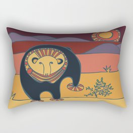Blueberry Bear Rectangular Pillow