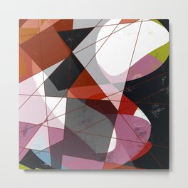 Newlook vol 3 - Abstract Throw Pillow / Wall Art / Home Decor Metal Print