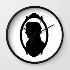 SHERLOCK profile print Wall Clock