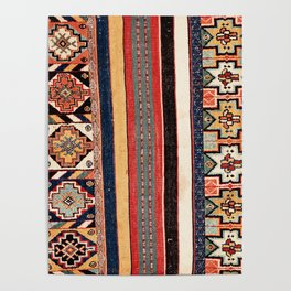 Salé  Antique Morocco North African Flatweave Rug Print Poster