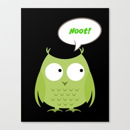 Owl Cartoon - Hoot Canvas Print