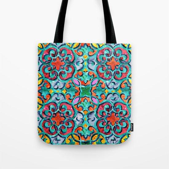 Moroccan Mandala Tile 01 Tote Bag