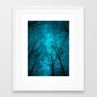 black Framed Art Prints featuring Stars Can't Shine Without Darkness  by soaring anchor designs