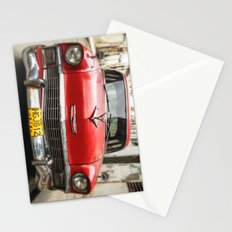 Vintage Red American Car on the Streets of Havana. Stationery Cards