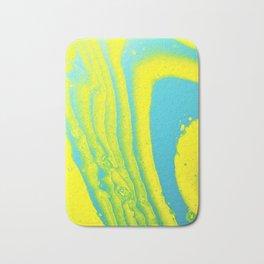 Yellow Blue Abstract Animal Print Acrylic Bath Mat