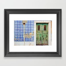 The green door Framed Art Print