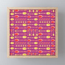 Unique Artsy Spoons! (Warm Colors) Framed Mini Art Print