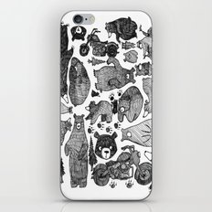 Bear and motorcycles iPhone & iPod Skin