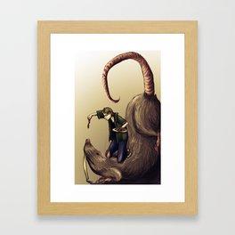 Mark and Baby Framed Art Print