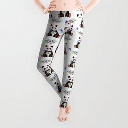 Garden Panda Pattern Leggings