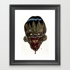 Heads of the Living Dead Zombies: Evil Genius Zombie Framed Art Print