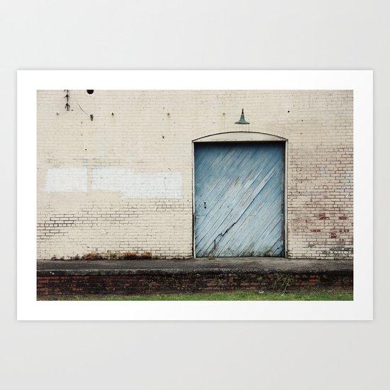 Big Blue Door Art Print