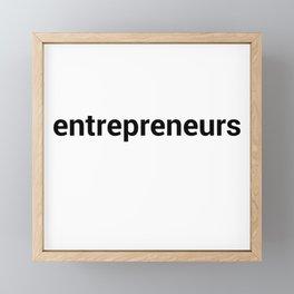 entrepreneurs Framed Mini Art Print