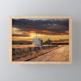 Sunset at the Coonawarra Rail Station Framed Mini Art Print