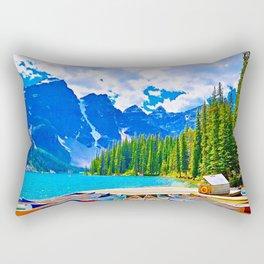 Lake in switzerland Rectangular Pillow