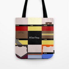 All Good Things - square Minimalist Star Trek TNG The Next Generation 1701 D  startrek  Trektangles Tote Bag