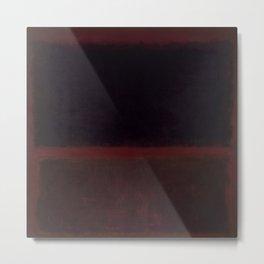 1960 Black on Dark Sienna On Purple by Mark Rothko HD Metal Print