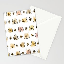 Watercolor BUTTs Butts butts Stationery Cards