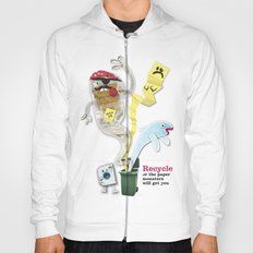 Recycled Paper Monsters Hoody