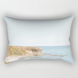 Travel photography Palos Verdes Ocean Cliffs Seascape Landscape VI Rectangular Pillow