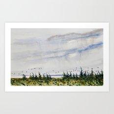 the bay Art Print