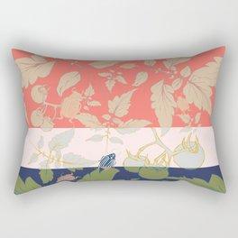 Tomatos and beetles - Pantone palete - mix colors Rectangular Pillow