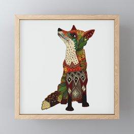 fox love off white Framed Mini Art Print