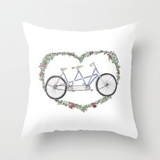 A bicycle made for two Throw Pillow