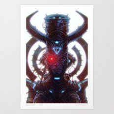 Electric Queen Art Print