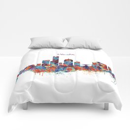 Milwaukee Skyline Comforters