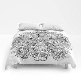 B&W Indian Mandala Comforters