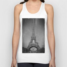 Vintage Eiffel Tower Unisex Tank Top